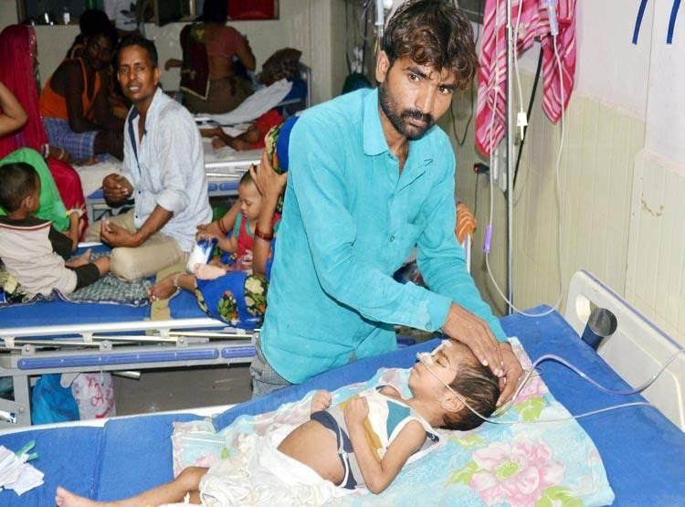 गोरखपुर पहुंचे कांग्रेसी नेता, कहा- 63 बच्चों की मौतों के लिए योगी सरकार जिम्मेदार