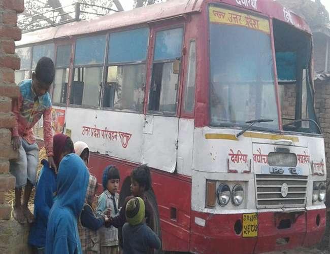 बिहार में मिली देवरिया से चोरी यूपी रोडवेज की बस