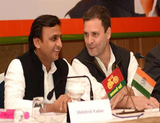 भाजपा के मुकाबले मजबूत दिखने को सपा-कांग्रेस गठबंधन मजबूरी