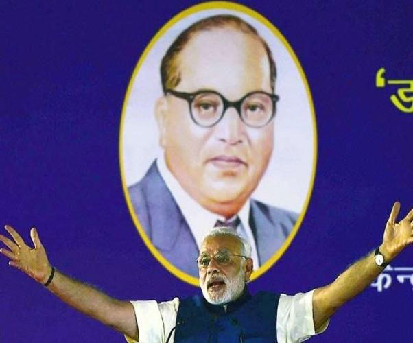 पीएम ने 'आयुष्मान भारत' समेत कई योजनाओं को किया लांच, लगाए जय भीम के नारे