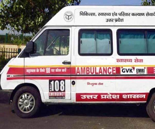 मथुरा मे 108 एम्बुलेंस बिना ऑक्सीजन मरीज को लेने पहुंची बुर्जुग महिला की मौत