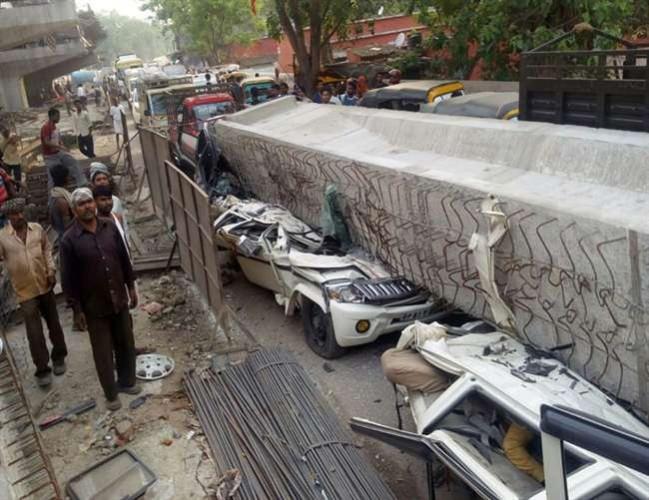 वाराणसी में निर्माणाधीन ओवरब्रिज का एक स्पैन गिरने से 12 लोगों की मौत, पीएम व सीएम ने जताया दुख