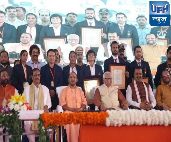 राज्यपाल और मुख्यमंत्री ने एशियाड और राष्ट्रमंडल खेलों के विजेताओं को  किया सम्मानित
