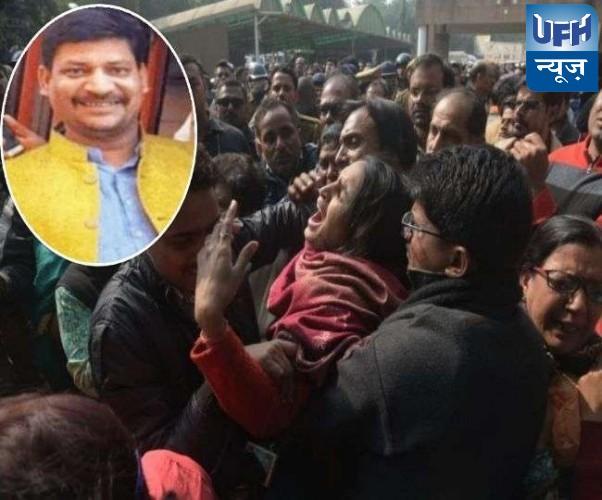 राजधानी में भाजपा नेता प्रत्यूषमणि त्रिपाठी की चाकू घोंपकर हत्या, कैसरबाग इंस्पेक्टर सस्पेंड