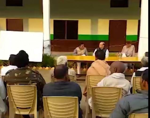 शेरगढ़ क्षेत्र को फूड जोन घोषित करवाने के लिए मीटिंग