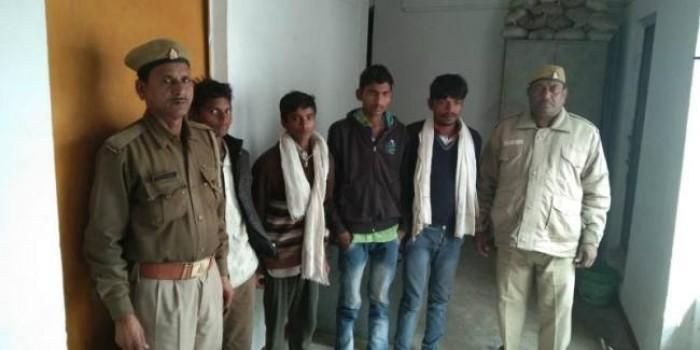हमीरपुर मे चोरी के गौवंश के साथ चार गिरफ्तार, मुकदमा