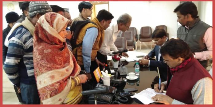 अलीगढ़-:जनसुनवाई में आई 15 शिकायते डीएम ने अधीनस्थ अधिकारियों को दिये गुणवत्तापूर्ण निस्तारण के निर्देश