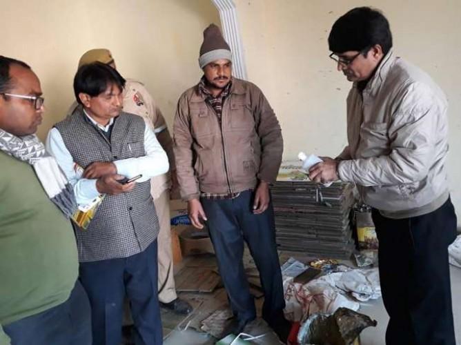 जिला अलीगढ़ में नकली देसी घी बनाने की फैक्ट्री पकड़ी, सरगना गिरफ्तार