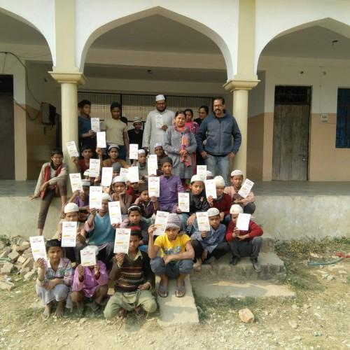 मोहनलालगंज सामुदायिक स्वास्थ्य केंद्र की टीम ने मीजल्स  रूबेला टीकाकरण किया
