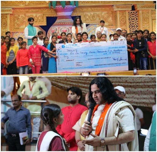 प्रियाकान्तजू मंदिर में 125 बेटियों को दिया गया 'प्रियाकान्तजू विद्याधन' प्रत्येक बेटी को मिले 5100 रूपये