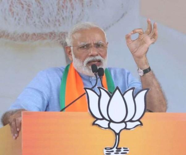 मुरादाबाद में नरेंद्र मोदी ने कहा सरकार बनने पर फिर से संसद में लाएंगे तीन तलाक का बिल