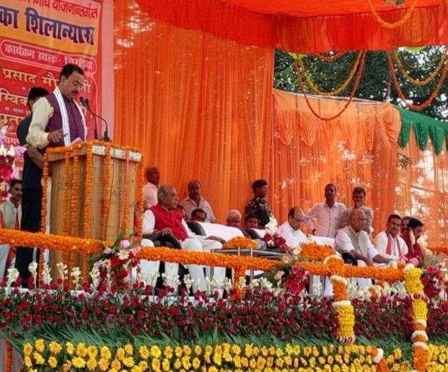 सिद्धार्थनगर में उप मुख्यमंत्री केशव मौर्य ने कहा अपराधी या तो जेल में हैं या परलोक मे