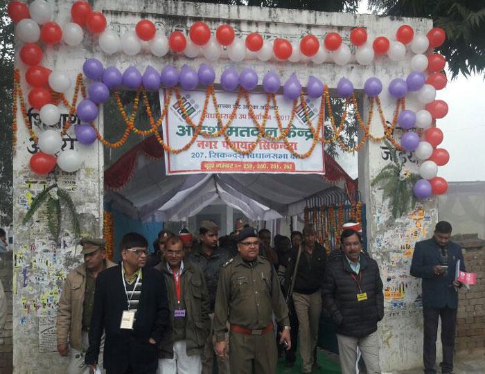 कानपुर देहात के  सिकंदरा विधानसभा उप चुनाव में दस बजे तक 6.5 फीसदी मतदान