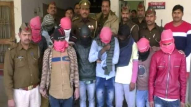 गाजियाबाद मे पुलिस के हत्थे चढ़े 9 झपटमार, चोरी के 1438 मोबाइल बरामद