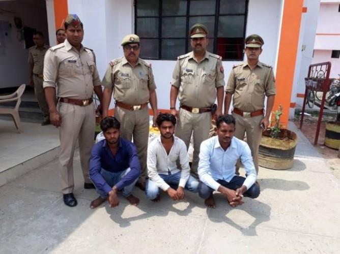 सिद्धार्थनगर में राइस मिल में चोरी कर रहे तीन धराए, दो फरार