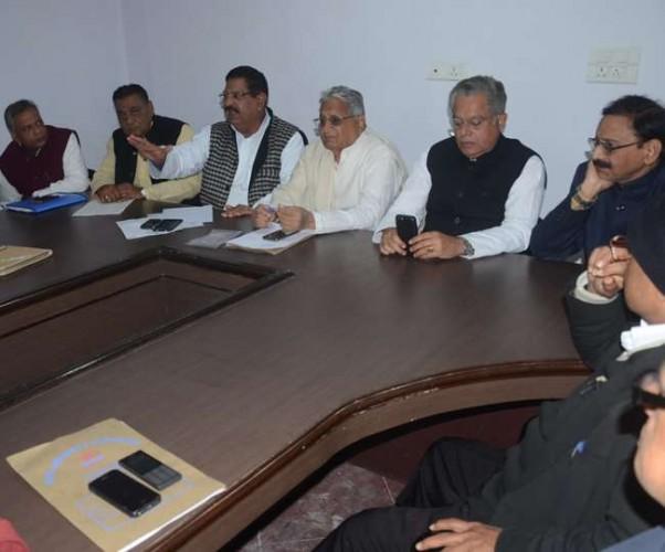कांग्रेस पदाधिकारियों की बैठक में फ्रंटल संगठन पदाधिकारियों ने लिया राहुल गांधी को पीएम बनाने का संकल्प