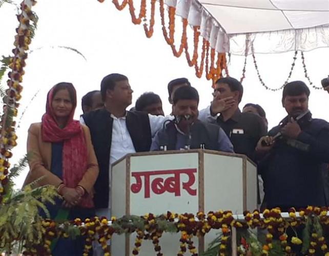 बलिया में शिवपाल सिंह यादव  ने कहा एक ने अपने बाप को तो दूसरे ने सत्ता में साथ देने वाले को दिया धोखा