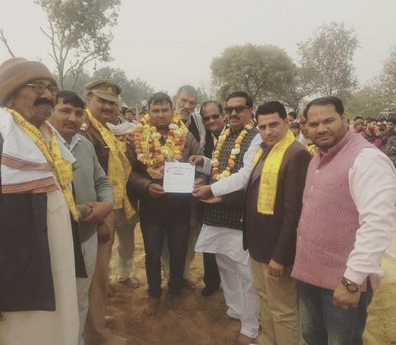 सतीश पहलवान जिला केसरी बने भारतीय किसान यूनियन लोकशक्ति खेलप्रकोष्ट के मथुरा जिला अध्य्क्ष