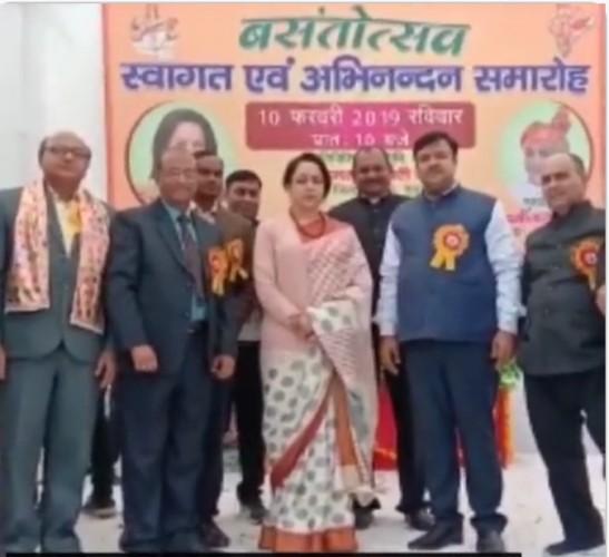 कोसिकला के बसंतोत्सव कार्यक्रम में पहुंचे मंत्री चौधरी लक्ष्मी नारायण व सांसद हेमा मालिनी