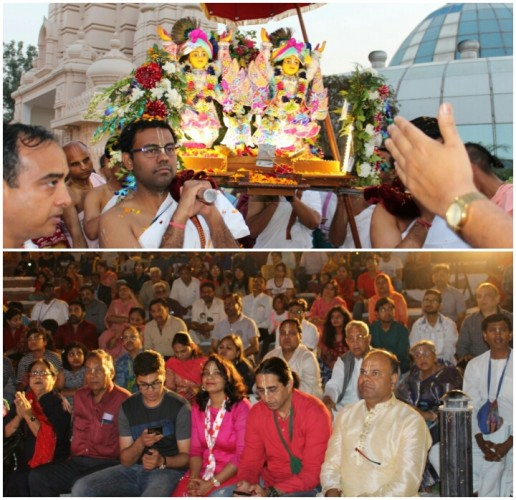 चंद्रोदय मंदिर में हर्षोंल्लास के साथ मना चैतन्य महाप्रभु का आविर्भाव दिवस