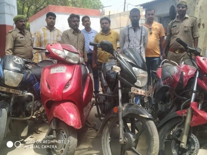 गोविंदनगर पुलिस  ने तीन शातिर वाहन चोरो को किया गिरफ्तार आधा दर्जन वाहन बरामद