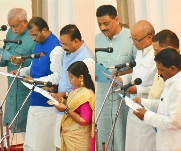 बिहार कैबिनेट में आठ नए मंत्री शामिल, BJP-LJP को नहीं मिली जगह