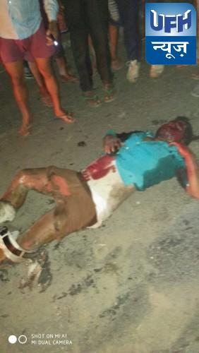 तिलोक पुरवा मंदिर के निकट बीती रात हुआ भीषण एक्सीडेंट दो की मौत एक घायल