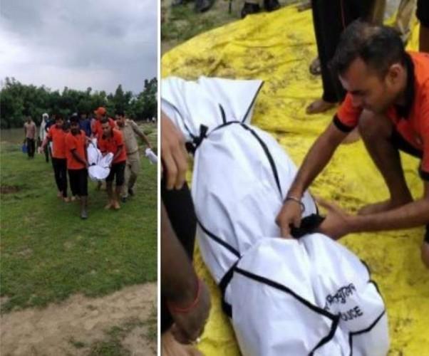 लखनऊ स्थित निगोहां मे संदिग्ध परिस्थितियों में सई नदी में डूबे चार लोग, एक की मौत