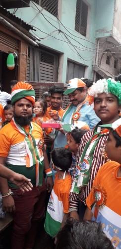 अलीगढ़ पूर्व विधायक हाजी जमीर उल्ला खान ने मनाया भारत का 73 वां स्वतंत्र दिवस
