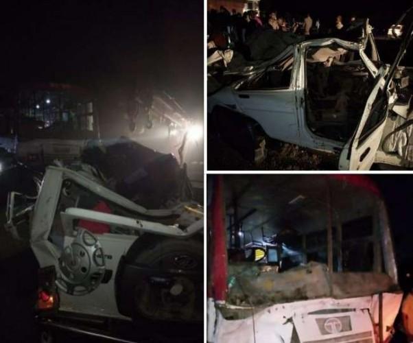 अयोध्या में बोलेरो व रोडवेज बस की जोरदार टक्कर, एक ही परिवार के चार की मौत