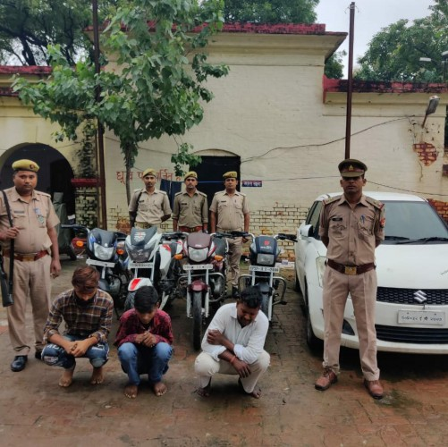 लग्जरी गाड़ियों से घूमकर चोरी करने वाले गिरोह का बंथरा पुलिस ने किया पर्दाफाश