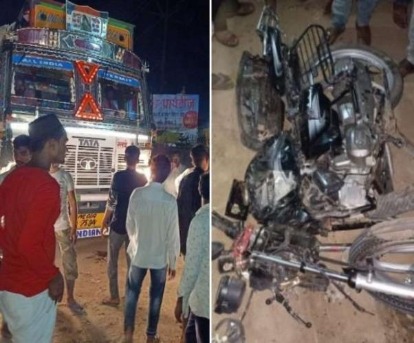 लखनऊ के काकोरी थानाक्षेत्र में सरिया लदे तेज रफ्तार ट्रक ने तीन लोगों को रौंदा, एक की मौत-दो घायल