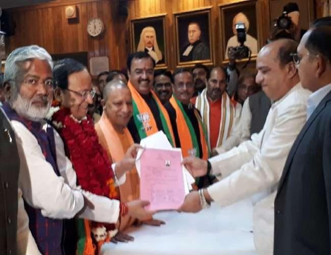 UP राज्यसभा की रिक्त सीट पर भाजपा के अरुण सिंह ने किया नामांकन, जीतना तय