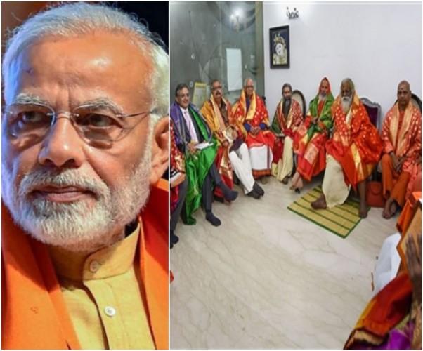पीएम नरेंद्र मोदी को ट्रस्ट के सदस्यों ने दिया राम मंदिर के शिलान्यास का निमंत्रण