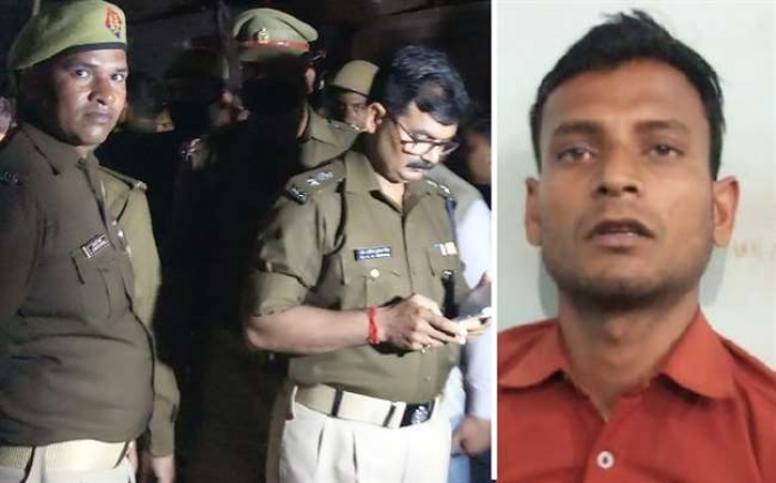 फर्रुखाबाद तिहरा हत्याकांड मे'खून से सनी कुल्हाड़ी लेकर थाने पहुंचा साढ़ू का बेटा
