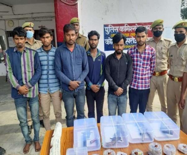 लखनऊ मे डकैती की योजना बना रहे छह युवकों गिरफ्तार
