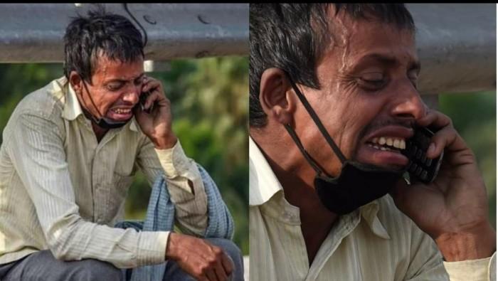 बिहार के एक मजदूर का ऐसा दर्द उनकी आंखों से भी आंसू निकल पड़े।