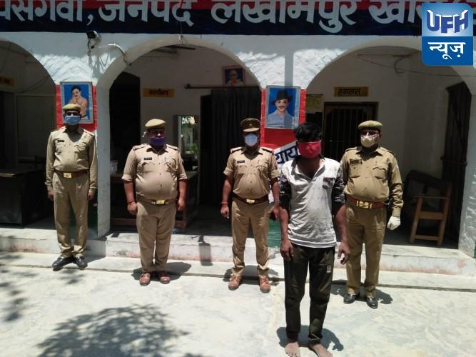 पुलिस ने पकड़ा दास हजार का इनामी बदमाश