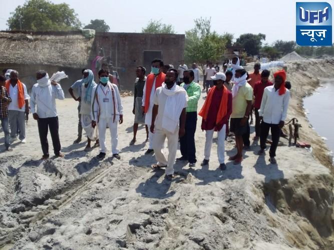 विधायक शशांक ने किया घाघरा नदी का निरीक्षण