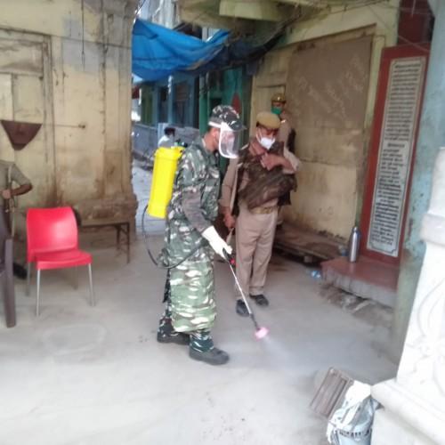 95-बटालियन केंद्रीय रिजर्व पुलिस बल का कोविड-19 के विरुद्ध अभियान जारी