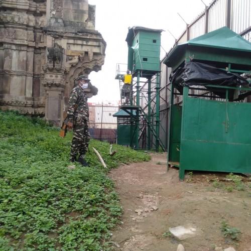 95 बटालियन केंद्रीय रिजर्व पुलिस बल का कोविड-19 के विरुद्ध जारी अभियान जारी