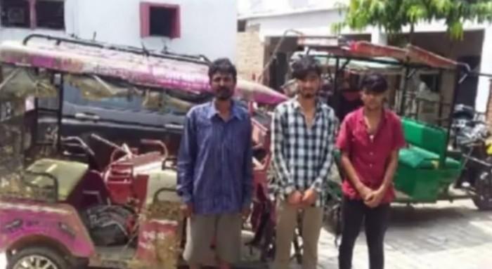 नवाबगंज पुलिस ने तीन वाहन चोरों को किया गिरफ्तार ,
