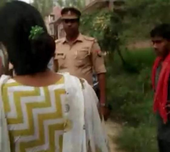 दरोगा द्वारा गरीब मजदूर के उत्पीड़न को लेकर भड़की MLA की बहन ,वीडियो वायरल