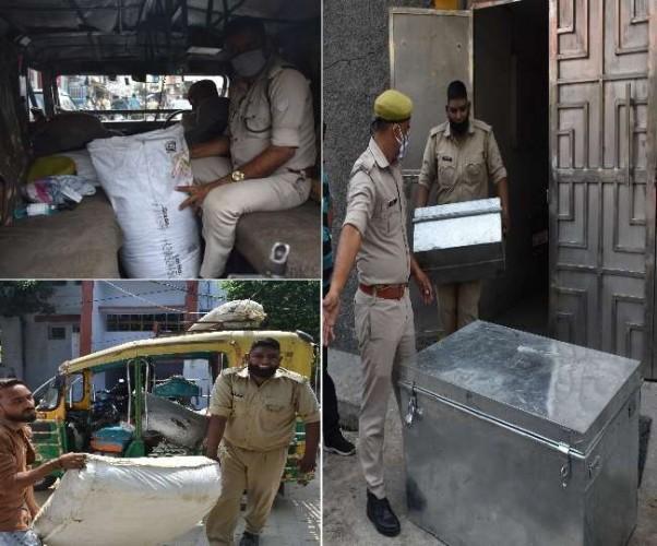 मेरठ मे नशे के अंतरराज्यीय गिरोह का भंडाफोड़, 28 किलो गांजा, चार किलो चरस व 220 किलो भांग के साथ चार गिरफ्तार