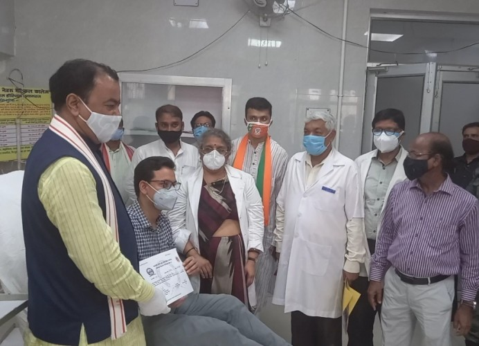 प्रयागराज मे डिप्टी सीएम केशव प्रसाद मौर्य ने किया कोविड प्लाज्मा बैैंक का शुभारंभ