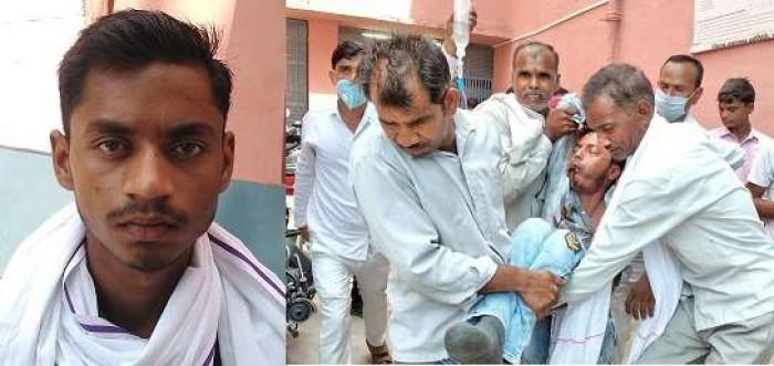 फर्रुखाबाद मे चेकिंग के दौरान नहीं रोकी बाइक तो सिपाही ने मार दिया हेलमेट, छात्र को तड़पता देख मौके से भागे