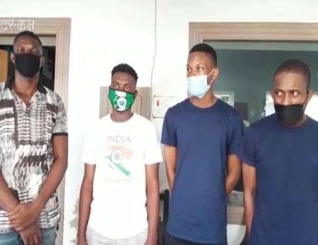 शादी व लॉटरी का लालच दे करोड़ों ठगने वाले अंतरराष्ट्रीय गैंग का पर्दाफाश, चार नाइजीरियन गिरफ्तार