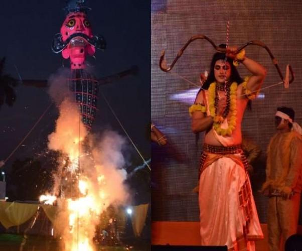 रामनगरी में दशानन के दलन से असत्य पर सत्य की विजय की पूर्णाहुति