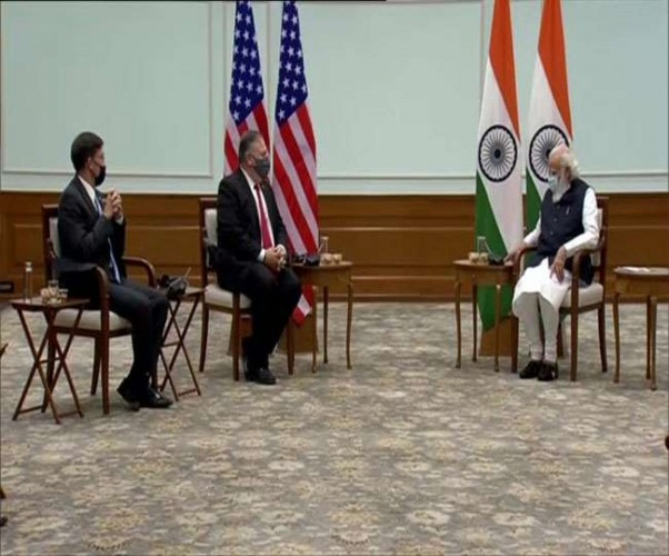अमेरिकी विदेश मंत्री माइक पोंपियो ने पीएम मोदी से की क्षेत्रीय और वैश्विक चिंता के कई मुद्दों पर चर्चा