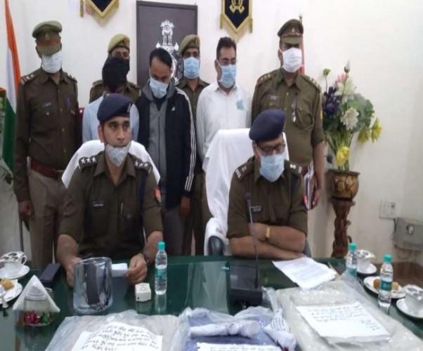 मुजफ्फरनगर में बुलेटप्रूफ जैकेट के साथ तीन के पकड़े गए असलाह तस्कर